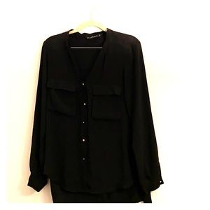 Black sheer Zara blouse